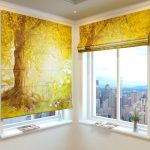 шторы с рисунком желтые