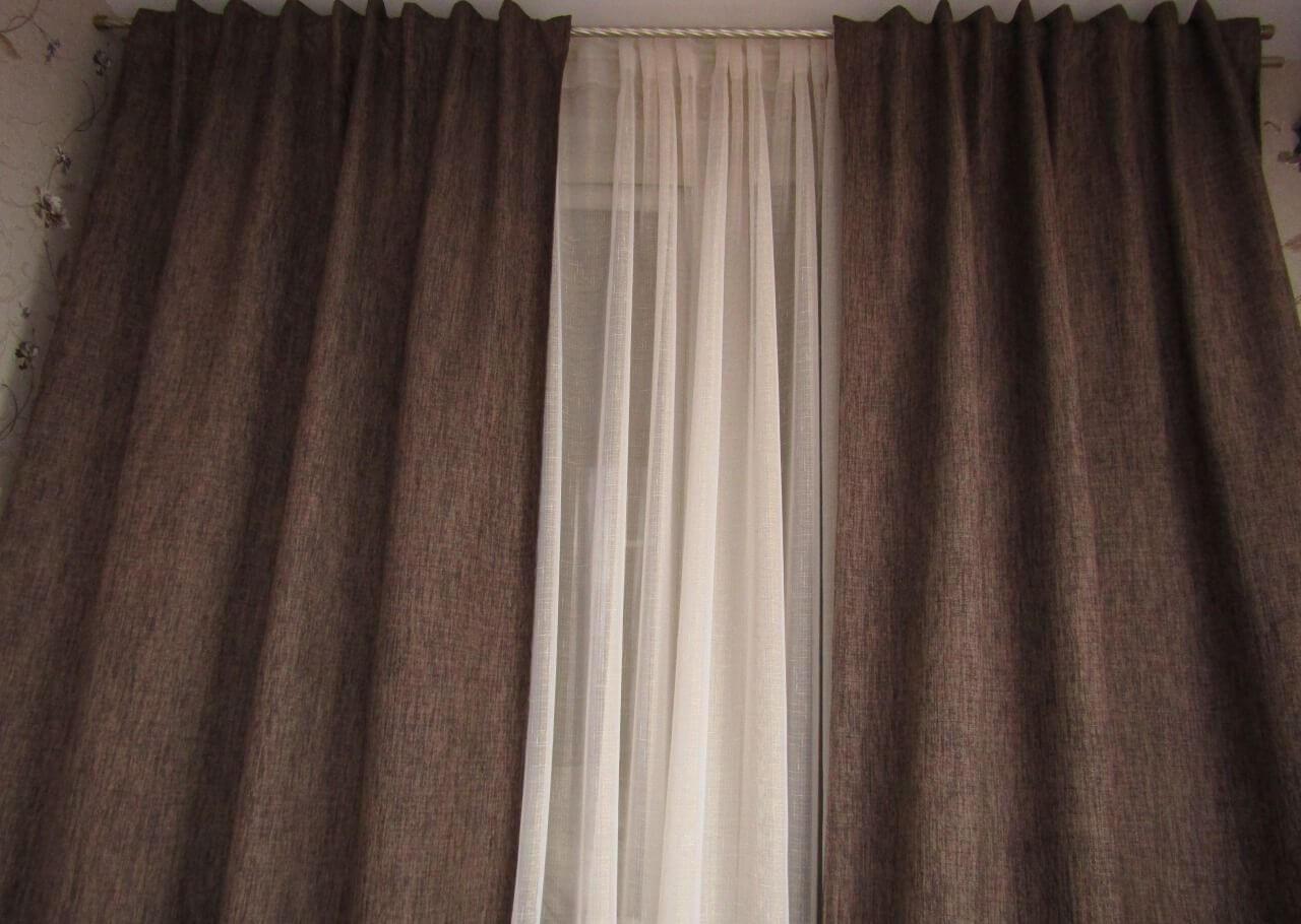 шторы блэкаут темно коричневые
