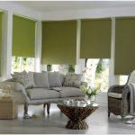 короткие шторы оливковые