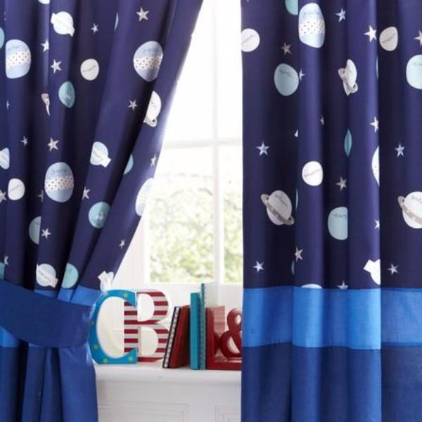 шторы для детской мальчика со звездами