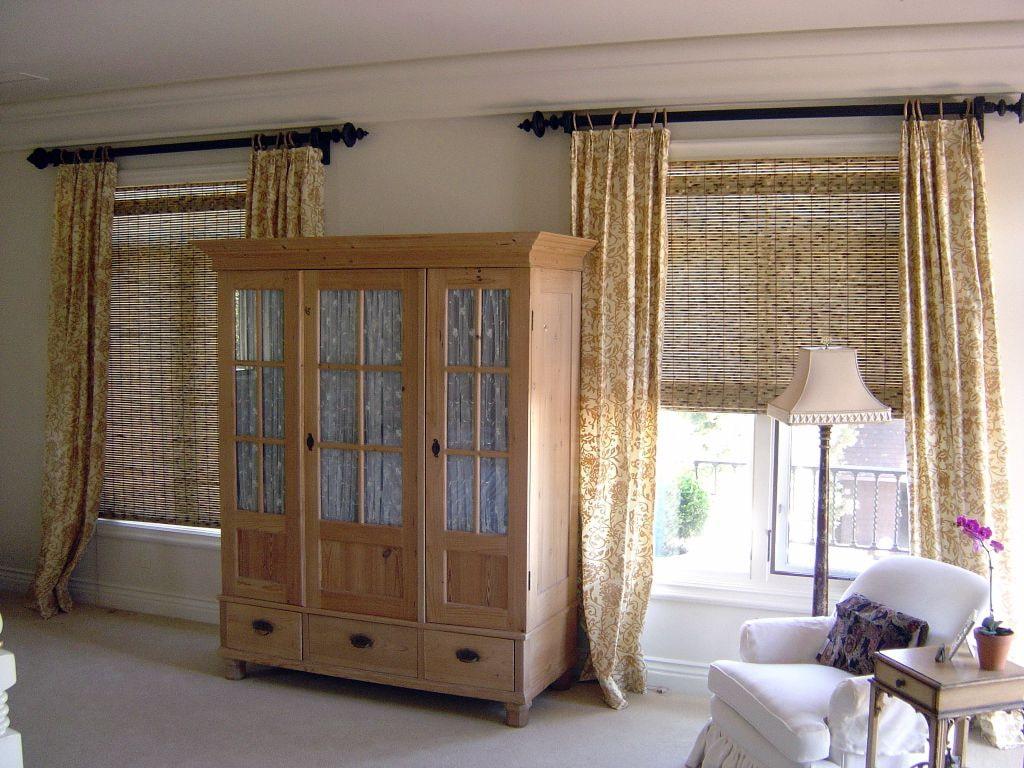 бамбуковые шторы фото оформление