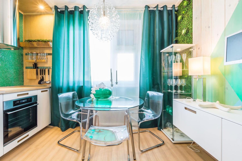 шторы на кухне на ламбрекенах