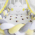 бортики для новорожденного косичка