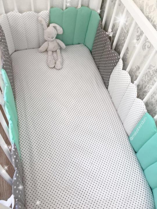 бортик в кроватку заборчик