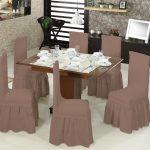чехлы на стулья со спинками декор
