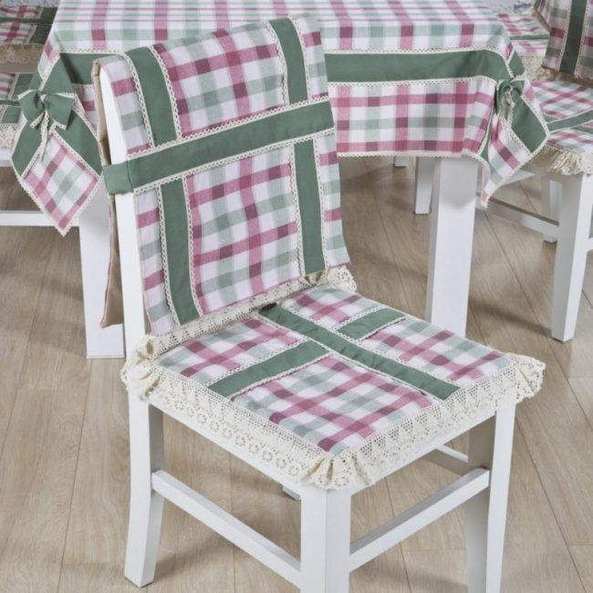 чехлы на стулья со спинкой декор