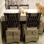 чехлы на стулья со спинками дизайн