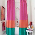 текстильные шторы для ванной фото