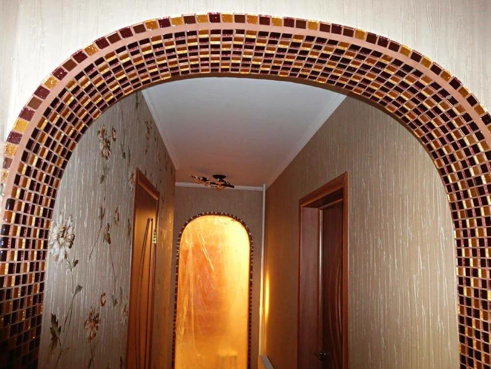 дизайн арки в квартире фото мозаика
