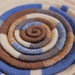 вязаные коврики карусель