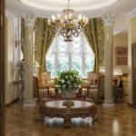 французские шторы фото интерьера