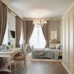 шторы на шторной ленте для спальни