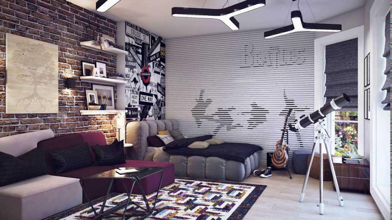 шторы в комнату подростка мальчика рок тематика