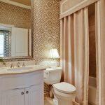 текстильные шторы для ванной фото идеи