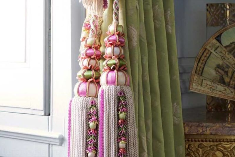 декоративные кисти для штор фото