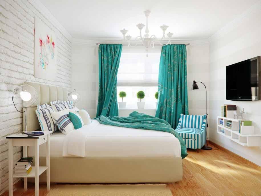 комплект из штор и покрывала для спальни декор фото