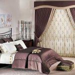 комплект из штор и покрывала для спальни идеи декор