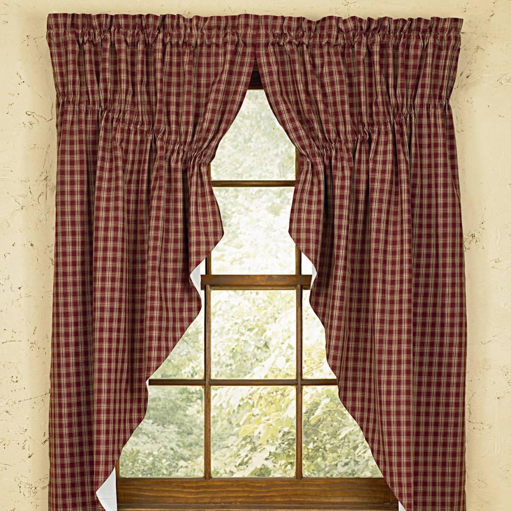 короткие шторы кантри