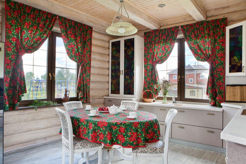 шторы для дачи короткие
