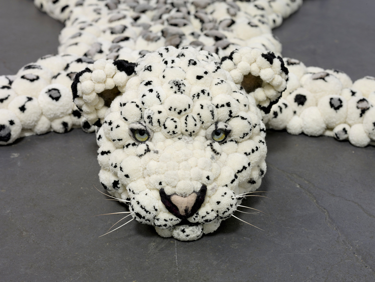 ковер в виде леопардовой шкуры