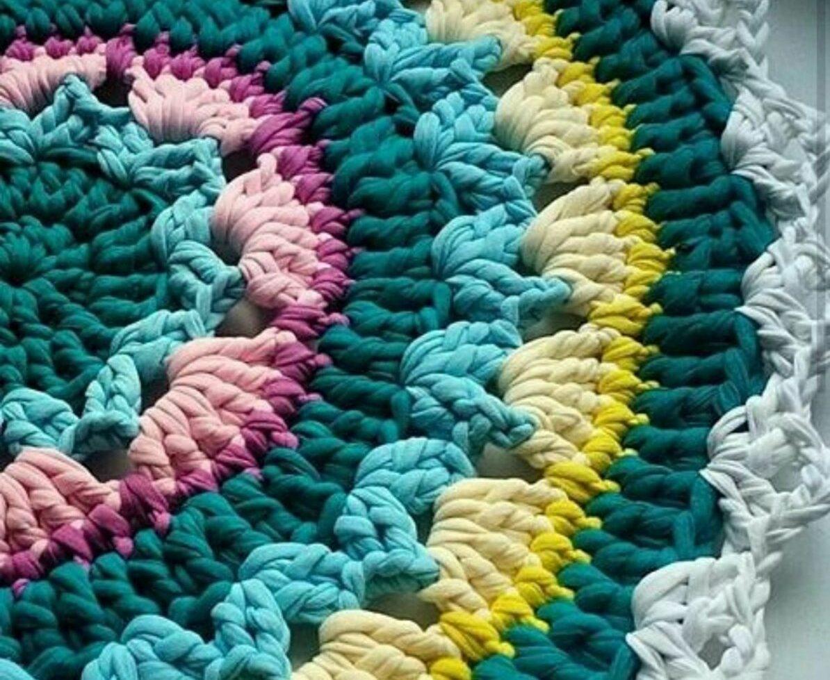коврик из футболок оформление фото