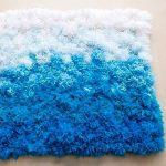 коврик из помпонов на пол