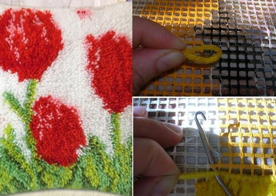 ковровая техника вышивания узелковая