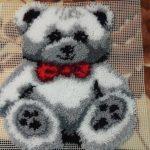 ковровая вышивка медвежонок