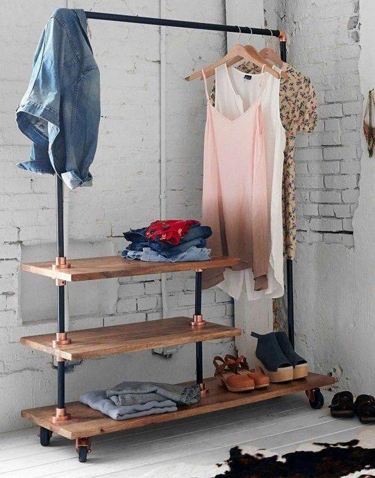 напольные вешалки для одежды идеи фото