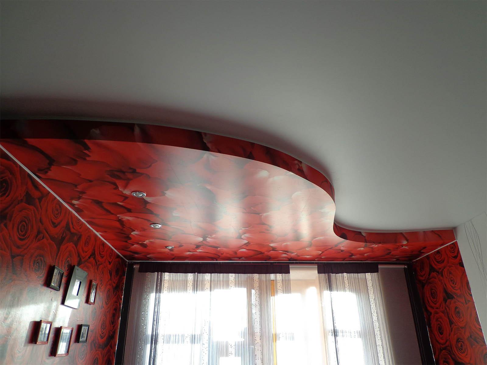 ниша для штор в натяжном потолке своими руками