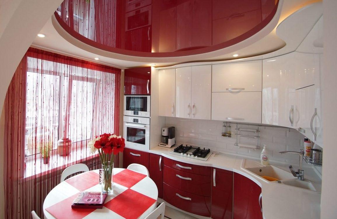 нитяные шторы идеи на кухне