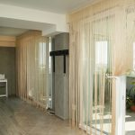нитяные шторы интерьер дизайн