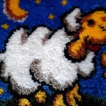 ковровая вышивка овечка