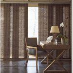 коричневые шторы из дерева