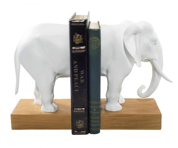 подставка держатель для книг гипс слон