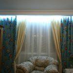 подсветка штор фото