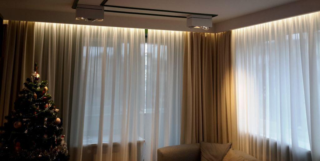 подсветка штор фото декор