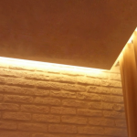 подсветка штор интерьер