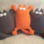 подушка кот декор фото