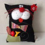 подушка кот фот дизайн