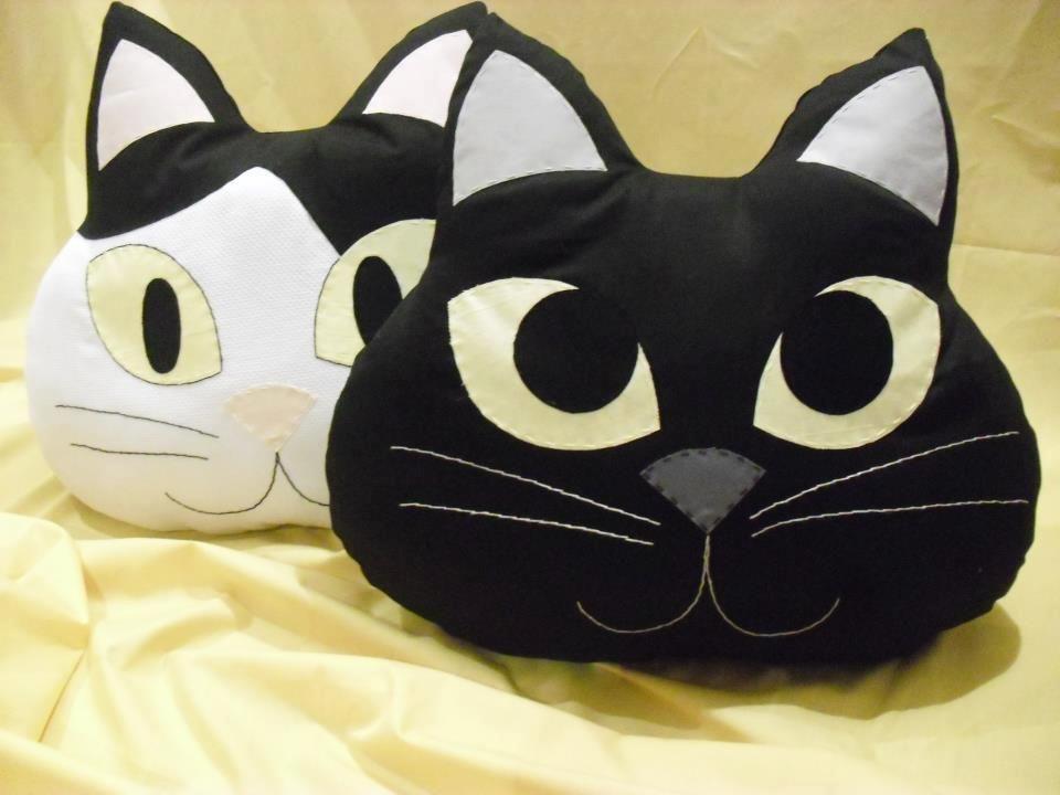 подушка кот фото дизайна