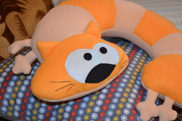 подушка кот фото оформления