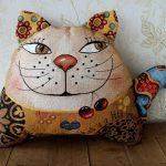 подушка кот виды