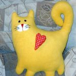 подушка кот декор