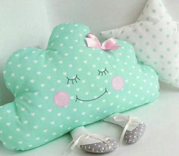 подушка облако фото декор