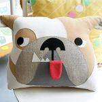 подушка собака фото декора