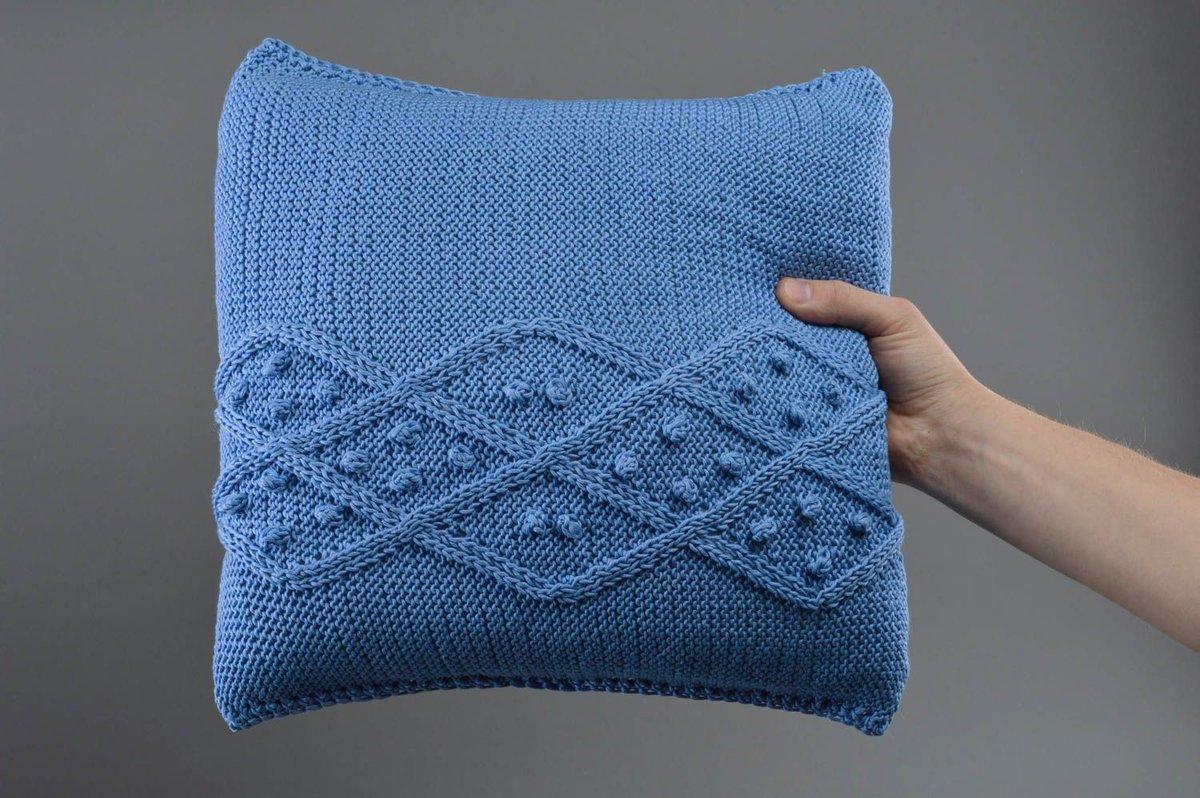 подушка вязаная обзор идеи