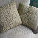 подушка вязаная виды декор