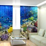 оконные шторы блэкаут подводный мир