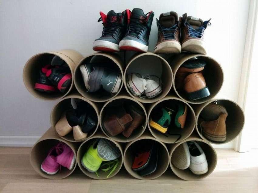 полка для обуви идеи из труб